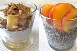 ananas cu iaurt si budinca de chia