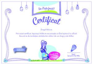 Certificat Milka